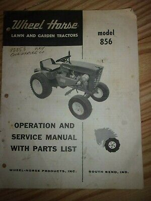 WHEEL HORSE TRACTOR SPECIFICATIONS MANUAL / model: