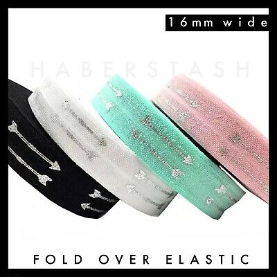 "Team Bride Gold Foil Fold Over Elastic FOE 5//8/"" 16mm per metre volume discount"