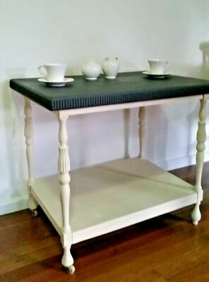 Newly Refurbished Shabby Chic Vintage Antique Tea Drink Trolley Table with shelf
