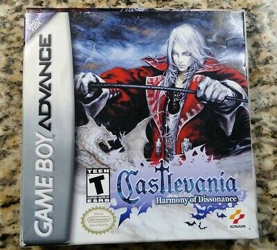 Castlevania Harmony of Dissonance Game Boy Advance TESTED COMPLETE AUTHENTIC