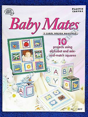 Plastic Canvas Patterns for Babys Needlepoint Baby Mates Tissue Box Frame Blocks