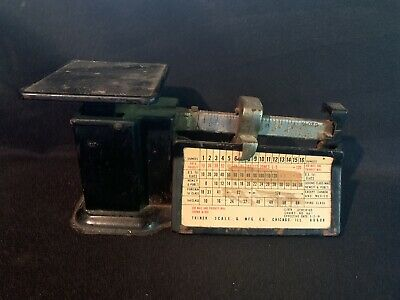 VINTAGE TRINER  POSTAGE SCALE  1 lb.  LIMIT  SHOWS Mail Chicago IL
