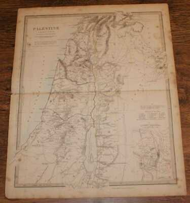 Map of Palestine at the time of Our Saviour - disbound sheet from 1857 Atlas