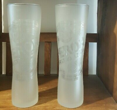 Quality Peroni Nastro Azzurro Beer Glasses 1 or 2 Used Frosted  500ml Pub Grade
