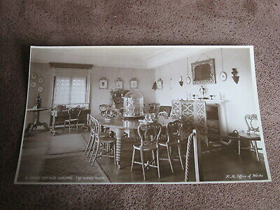 IOW  postcard -Dining room  Swiss cottage - Osbourne house - Cowes Isle of Wight