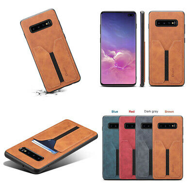 For Samsung Galaxy S10E S10 Plus Note 9 Shockproof Leather Card Slot Cover Case
