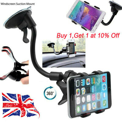 Universal 360 Car Windscreen Suction Cup Mount Mobile Phone Holder Bracket Stand