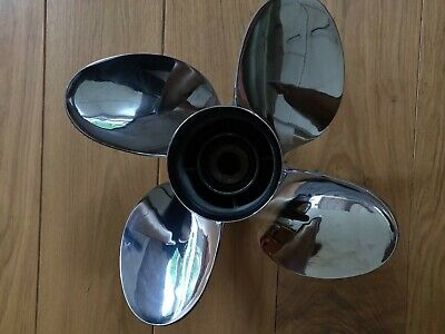 Yamaha Outboard Performance 4 blade stainless steel propeller 13 3/4 x 18 - M
