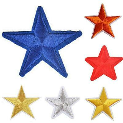 1pcs Star Embroidery Sew Iron On Patch Badge Clothes Applique Fabric Bag U3V4