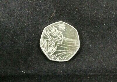London Olympic 2012 Cycling 50P Coin 2011 Fifty Pence Circulated
