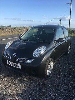 2008 Black Nissan Micra Acenta Low Mileage Only One Previous Keeper