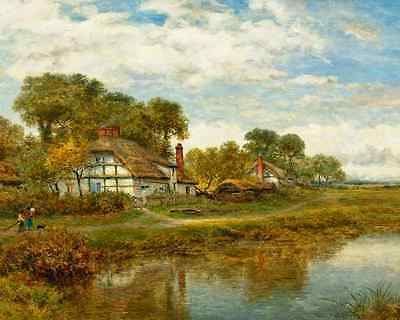 Gleam Before Storm by Benjamin Leader Art Old England Cottages 8x10 Print 0754