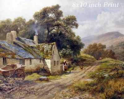 Old Cottage Near Betws-Y-Coed by Robert Gallon - House Wales UK 8x10 Print 2614