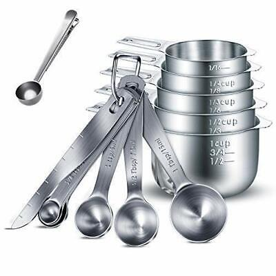 Measuring Cup and Spoon Set, 13 Pcs Premium 304 Stainless Steel  Measuring tools