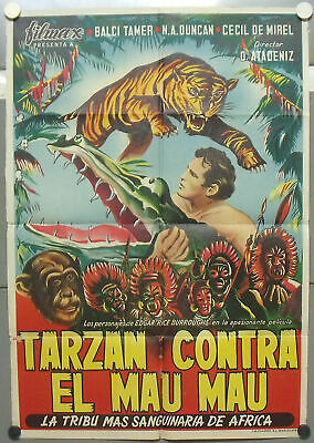 OZ82D TARZAN IN ISTAMBUL TURKISH FILM TAMER BALCI orig 1sh LITHO POSTER SPAIN
