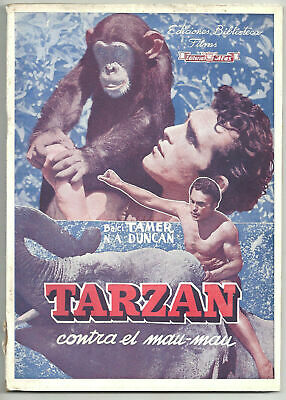 XM20 TARZAN IN ISTAMBUL TURKISH FILM TAMER BALCI orig VINTAGE SPANISH PHOTOPLAY