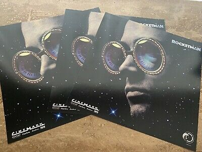 "(3) ROCKETMAN~ELTON JOHN~CINEMARK PROMO MOVIE POSTERS 12"" x 12"" 2019 LTD EDITION"