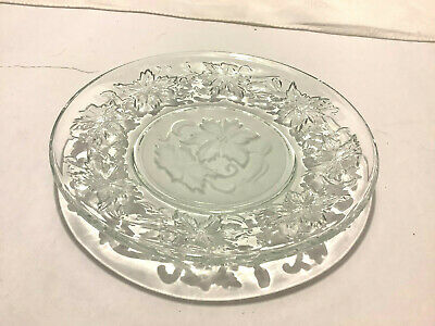 "PRINCESS HOUSE Fantasia 6"" Bread Butter Dessert Plate Frosted Center Poinsettias"