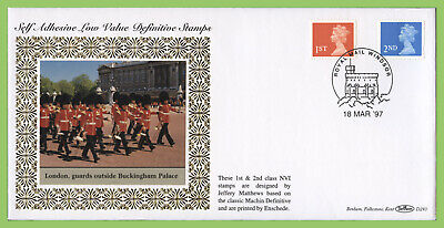 G.B. 1997 1st & 2nd class S/A on Benham First Day Cover, Windsor