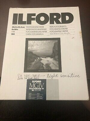 "Ilford 8x10"" 100 Sheets Multigrade IV RC DE LUXE Photographic Paper"