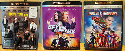 Now You See Me, The Spy Who Dumped Me & Power Rangers UHD + Blu Ray (No Digital)