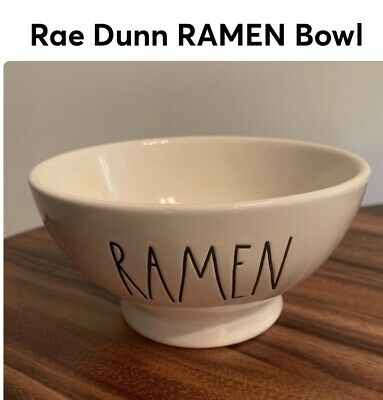New Rae Dunn By Magenta RAMEN Bowl Farmhouse Large Letters HTF