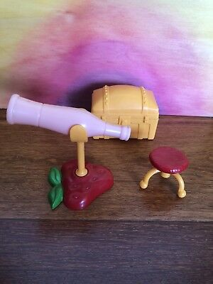Strawberry Shortcake Vintage Happy Home Attic Telescope, Chest, Stool