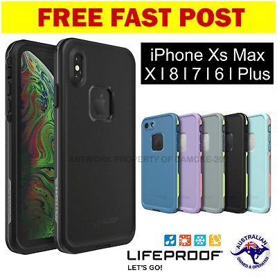 iPhone X XS MAX 6 7 8 Plus + Lifeproof FRE Case Cover Waterproof Shock Drop Snow