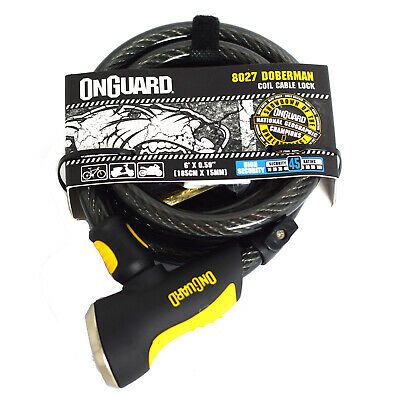 Onguard Doberman 8027 Motorcycle Scooter Bike Cable Coil Lock
