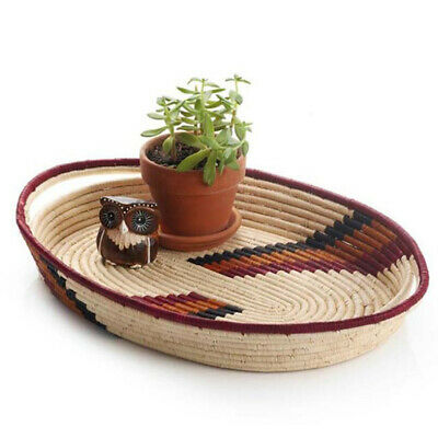 Natural Arch Tray Design Display African Basket Handwoven Home Decor