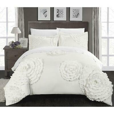Marissa 3-Piece Duvet Cover Set by Chic Home, Multiple Sizes Colors
