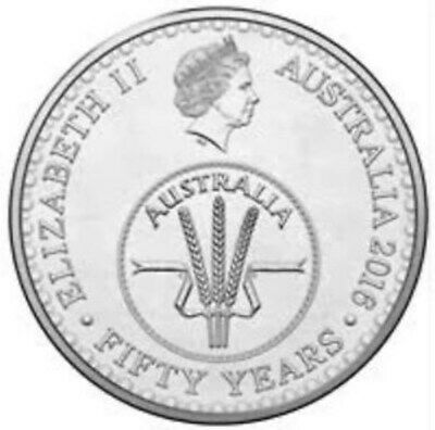 2016 Australian 10 Cent Coin Fifty Years Of Decimal Currency