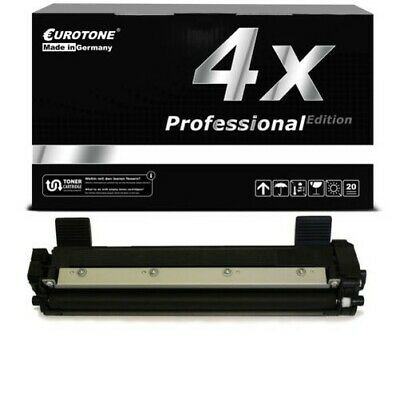 4x Eurotone pro Toner Compatibile per Brother TN-1050 TN1050