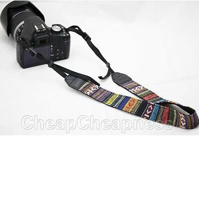 Vintage Camera Shoulder Neck Belt Strap For Slr Dslr Canon Nikon Sony PanasonSN