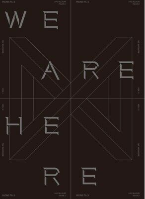 MONSTA X 2nd Album [TAKE.2 WE ARE HERE] CD+Photobook+2p Photocard+Folded Poster