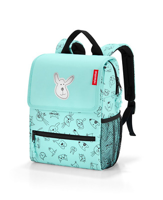 Reisenthel Zainetto Backpack Kids 21x28x12cm Antis-Idror Cats And Dogs Mint