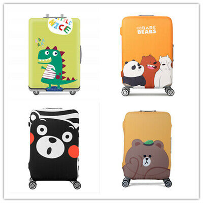 19-32 Inch Travel Luggage Cover Elastic Suitcase Protector 3D Anti-Scratch Case