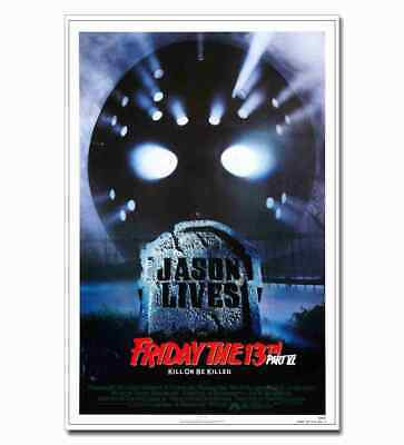Friday The 13th Jason Lives 12x18 24x36inch Horror Movie Silk Poster