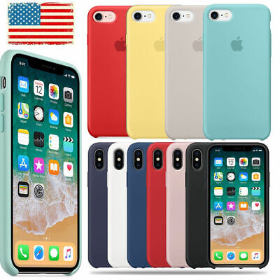 Genuine Original Silicone Case Cover For Apple iPhone X XR XS Max 7 8 6 6S+Plus