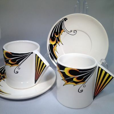 Butterfly-Wing Design Coffee Cups/Saucers x 2 (see our other listings)
