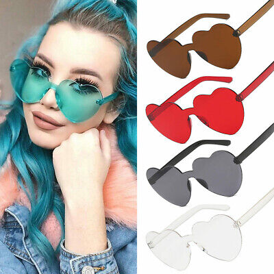 Women Retro Love Heart Shape Sunglasses Fashion Fantastic Dress Party Eyeglasses