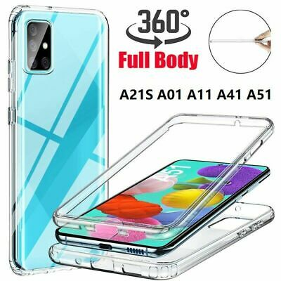 For Samsung Galaxy 360° Silicone Clear Gel Case Cover Front & Back