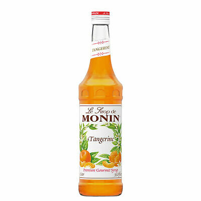 Tangerine Monin Syrup 70cl - Set of 6 - For Flavouring Cocktails and Lemonades