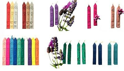 4 x Pack of  Traditional lit taper with wick Sealing Wax Sticks. Wax Stamp Seals