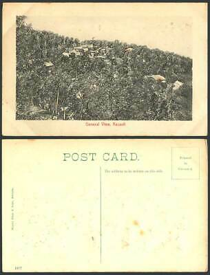 India Heavily Embossed Old Postcard General View Kasauli Hill, Panorama, Novelty