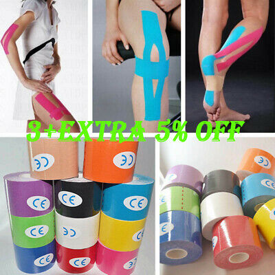 Athletic Muscle Tape Kinesiology Physio Strapping Support Sport Rocktape 5M*5CM