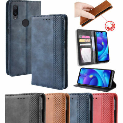 Retro Pure Magnetic PU Leather Flip Wallet Stand BYT Case Cover For Lot Phones
