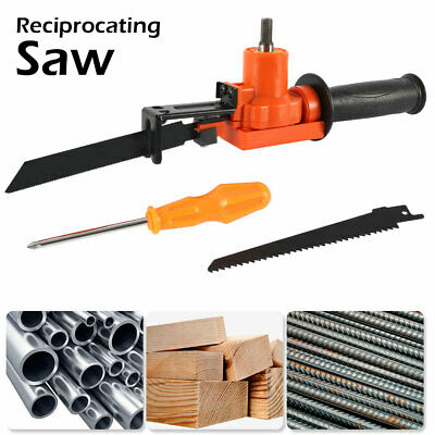 Reciprocating Saw Jig Attachment Adapter For Electric Drill Wood Metal Cutting 0