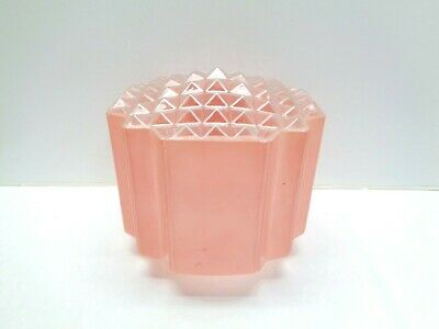Replacement Vintage Art Deco Pale Pink Frosted Glass Ceiling Lamp Light Shade