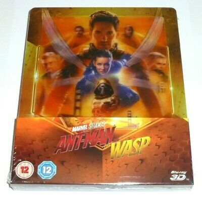 Ant Man And The Wasp - 3D + 2D Blu Ray Lenticular Steelbook - Uk Exclusive